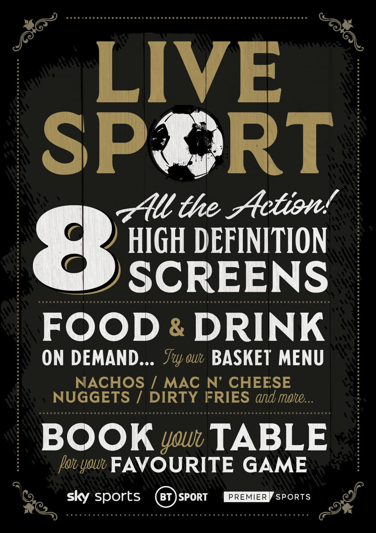 Live Sports At The Black Bull