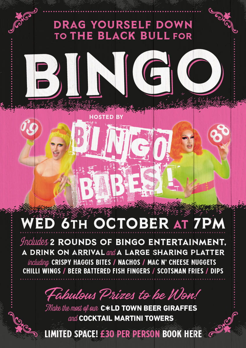Drag Bingo Bingo Babes in Edinburgh Book Here