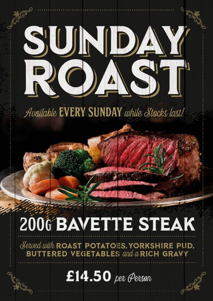 The Black Bull Sunday Roast Book Here